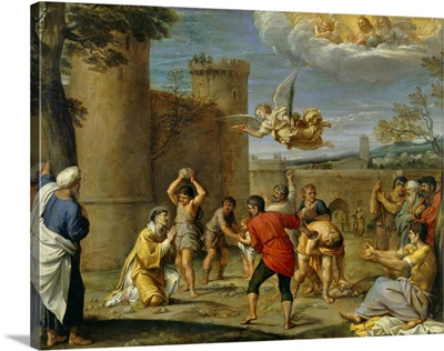 The Stoning of Stephen, By Annibale Carracci, 16th century, Louvre Museum