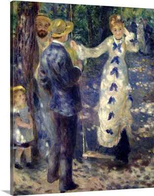 The Swing, 1876, By French impressionist Pierre Auguste Renoir