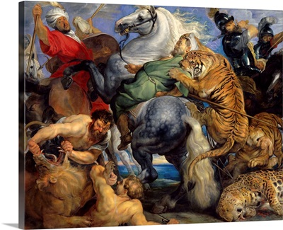The Tiger Hunt, 1616, By Peter Paul Rubens, Flemish, oil on canvas