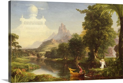 The Voyage of Life: Childhood, by Thomas Cole, 1842, American painting