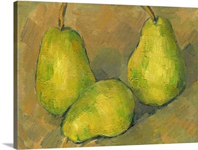 Three Pears, by Paul Cezanne, 1878-79