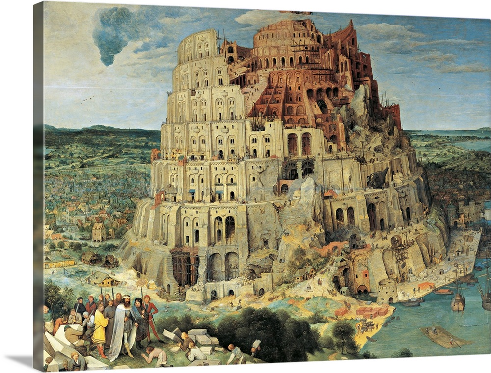 Tower Of Babel By Pieter Bruegel The Elder 1563 Kunsthistorisches Museum Vienna Wall Art Canvas Prints Framed Prints Wall Peels Great Big Canvas