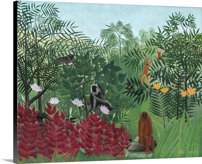 Tropical Forest with Monkeys, by Henri Rousseau, 1910