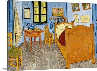 Van Gogh'S Bedroom In Arles, By Vincent Van Gogh, 1889. Paris, France