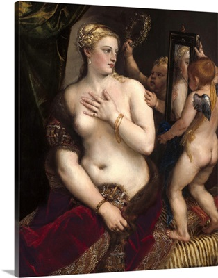 Venus with a Mirror, by Titian, c. 1555