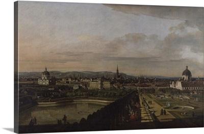 Vienna From The Belvedere, By Bernardo Bellotto, 1759-60