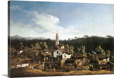 View of Gazzada, by Bernardo Bellotto, 1744. Brera Gallery, Milan, Italy