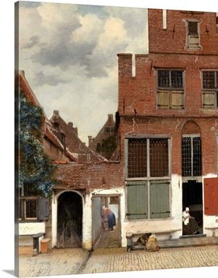 View of Houses in Delft, Johannes Vermeer, 1658