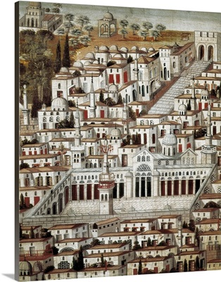 View of the City of Damascus, Syrian art
