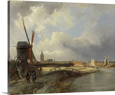 View of The Hague, c. 1850-52, Dutch painting, oil on canvas