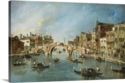 View on the Cannaregio Canal, Venice, by Francesco Guardi, c. 1775-80