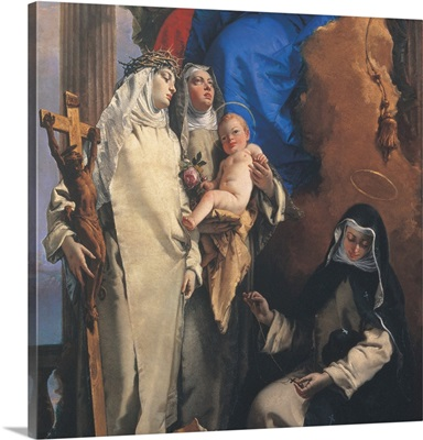 Virgin Appearing to the Dominican St. Rose of Lima, by Giambattista Tiepolo, 1748