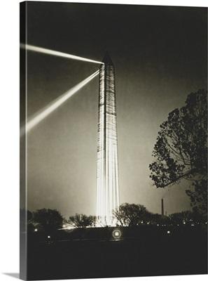 Washington Monument on armistice night, 1921