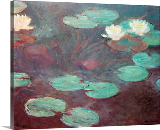 Modern art rome wall art by claude monet water lilies or nympheas by claude monet 1906 national gallery