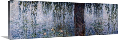 Waterlilies, Morning with Weeping Willows, Left section of the triptych