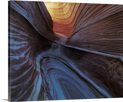 Wavy patterns In Desert Rock