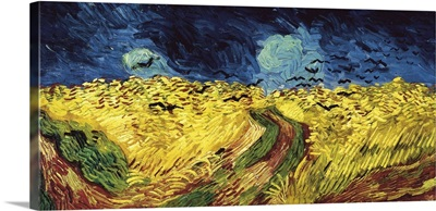Wheat Field with Crows