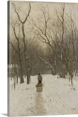 Winter in the Scheveningse Bushes, Anton Mauve, 1870-88