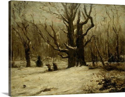 Winter Landscape, by Gustave Courbet, c. 1850-77