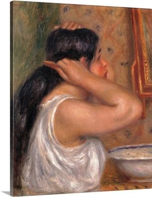 Woman Combing Her Hair, by Pierre-Auguste Renoir, ca. 1907-1908. Musee d'Orsay, Paris