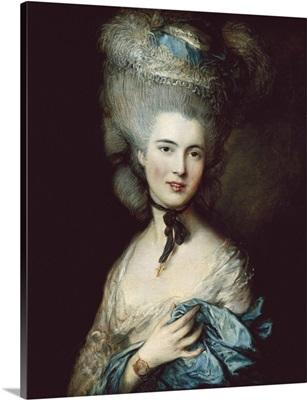 Woman in Blue (Duchess of Beaufort). Ca.1778