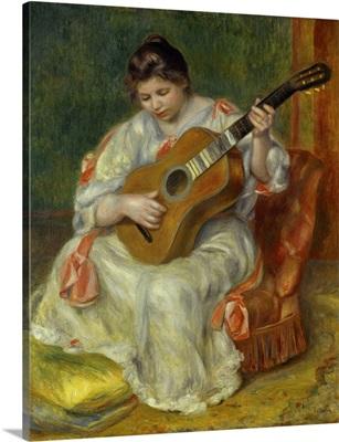 Woman playing Guitar, 1897