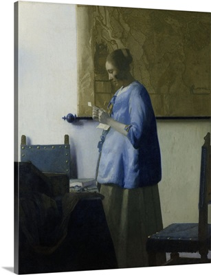Woman Reading a Letter, by Johannes Vermeer, 1663