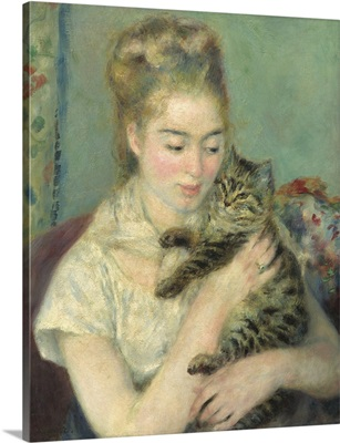 Woman with a Cat, by Auguste Renoir, 1875