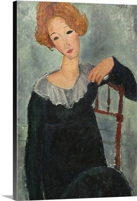 Woman with Red Hair, by Amedeo Modigliani, 1917, Italian painting