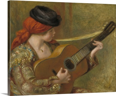 Young Spanish Woman with a Guitar, by Auguste Renoir, 1898