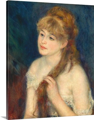 Young Woman Braiding Her Hair, by Auguste Renoir, 1876