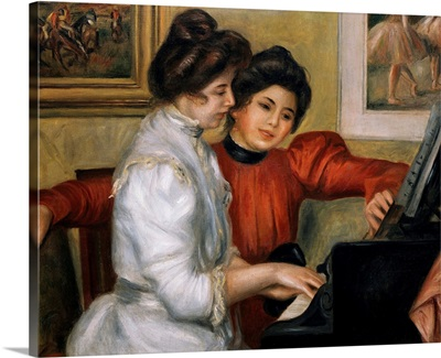 Yvonne and Christine Lerolle at the Piano. Ca. 1897