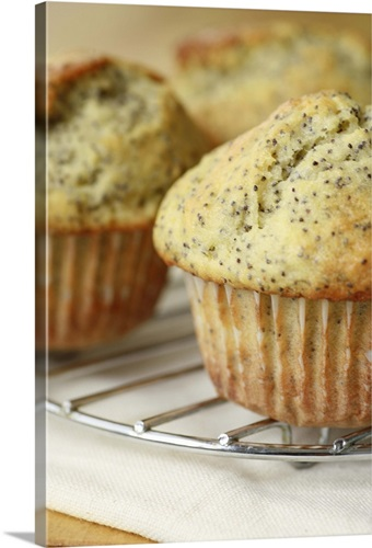 Gluten-Free Lemon Poppy-seed Muffins Wall Art, Canvas Prints, Framed ...