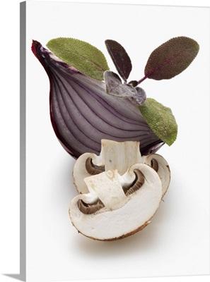 Sage onion mushroom
