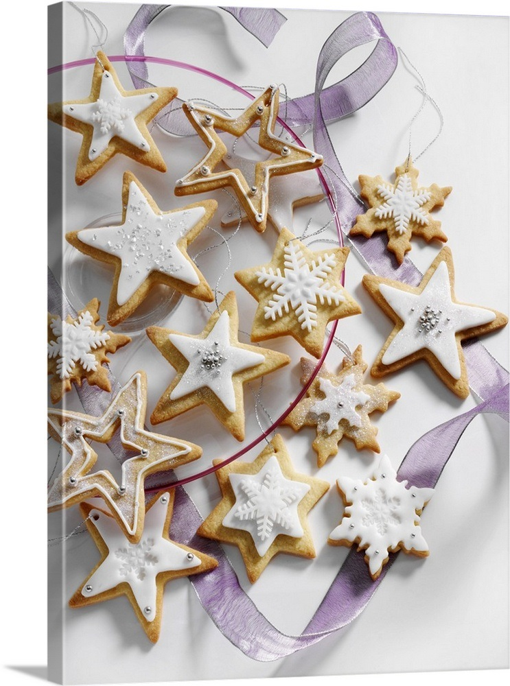 Star Shaped Iced Christmas Biscuits