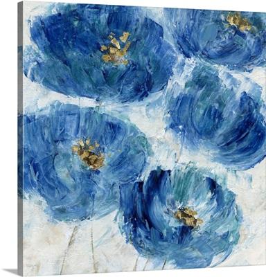 Blue Floral Fleck