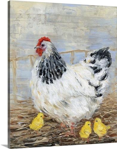 Farmhouse Chicken Wall Art, Canvas Prints, Framed Prints, Wall Peels ...