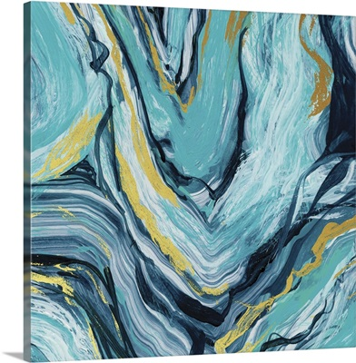 Teal Agate Gold Accent I