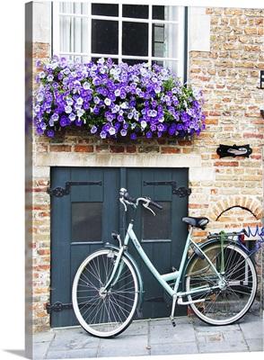 Bruges Door and Bicycle