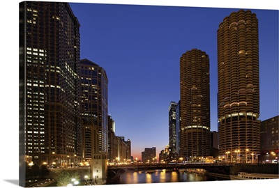 Chicago River Dusk I