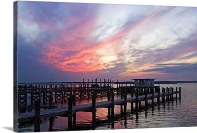 Dockside Sunset IV