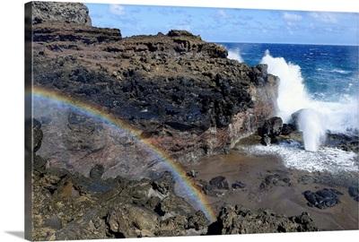 Rainbow at Nakalele Blowhole