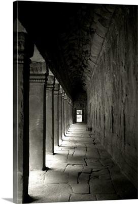Ta Prohm Walkway, Black and White
