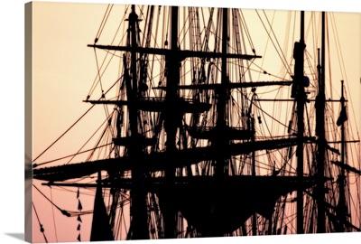 Tall Ships at Sunset 1