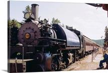 1800s era train, still in use, Black Hills, South Dakota, United States