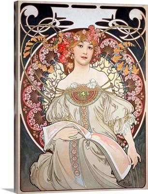 1896 Calendar Illustration by Alphonse Mucha