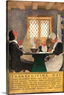 1920's American Banking Poster, Thanksgiving Day