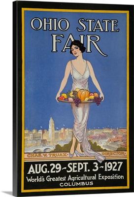 1927 Ohio State Fair Advertising Poster