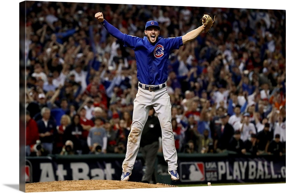 newest b14f9 becf5 2016 World Series: Kris Bryant of the Cubs celebrates after defeating the  Indians 8-7