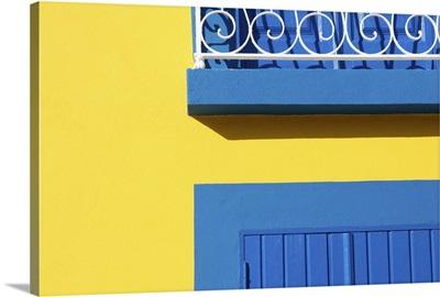 A house blue